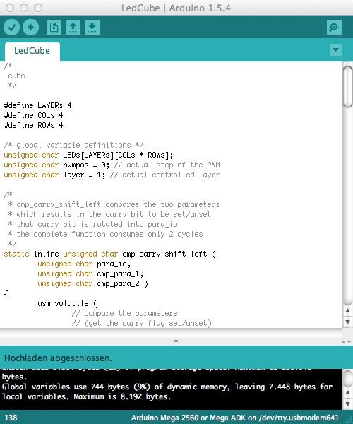 Programm zum bespielen von Arduino's