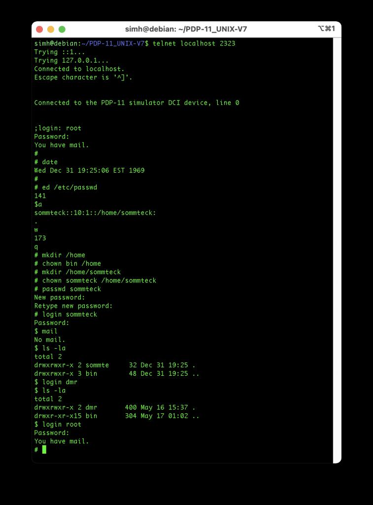 Unix Time-Sharing System V7