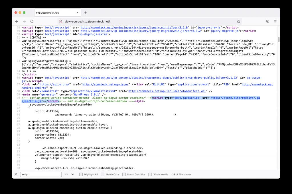 Volltextsuche HTML-Sourcecode